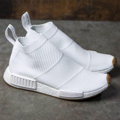 adidas men nmd cs primeknit white footwear white gum