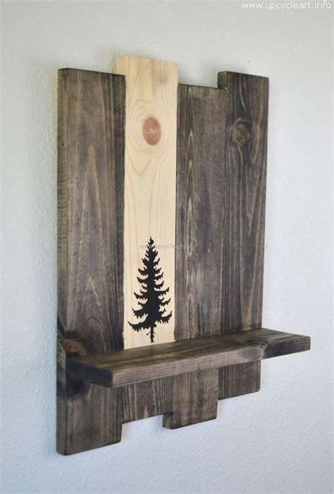unique wood shelves unique decorative pallet shelf ideas upcycle