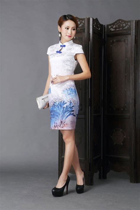 Baju Imlek Panjang baju imlek cheongsam warna putih 2015 model terbaru jual murah import kerja