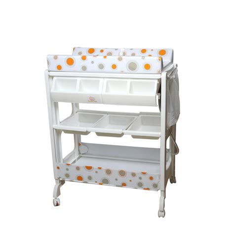 Baby Change And Bath Table With Safety Clipper Comfort Pad Baby Change And Bath Table