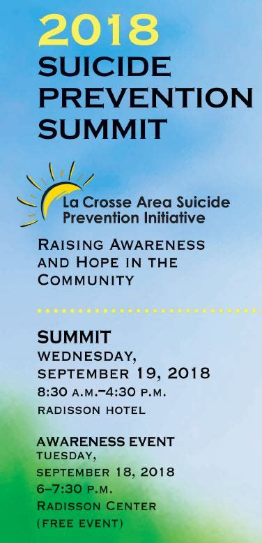 suicide prevention summit uw la crosse