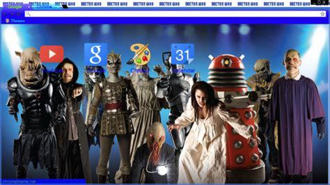 theme chrome doctor who doctor who enemies chrome theme themebeta