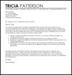 Career Coach Cover Letter by Strength And Conditioning Coach Cover Letter Sle Livecareer