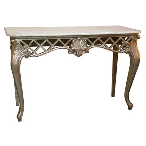 Hand Carved Furniture by French Rococo Style Console Table At 1stdibs
