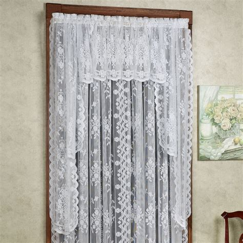 long swag curtains fiona scottish lace window treatment
