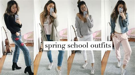 spring school outfit ideas rachspeed youtube