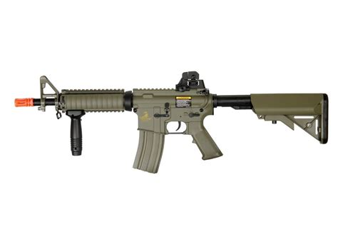 metal tactical new lancer tactical airsoft aeg ris metal gearbox electric rifle gun 04t m4 mk18