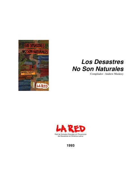 libro the son libro para un ensallo los desastres no son naturales