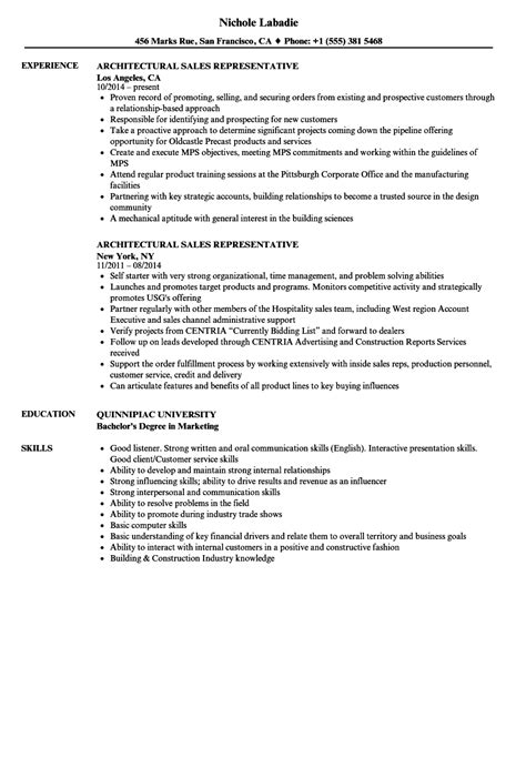 Architectural Director Sle Resume by Inbound Sales Representative Business Templates Business Template Word
