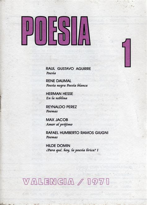 poemas de amor rafael cadenas grupo li po inserci 211 n de la revista poes 205 a en el