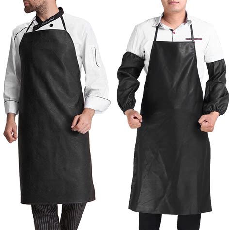 what to buy a chef aliexpress com buy faux leather chef apron waterproof