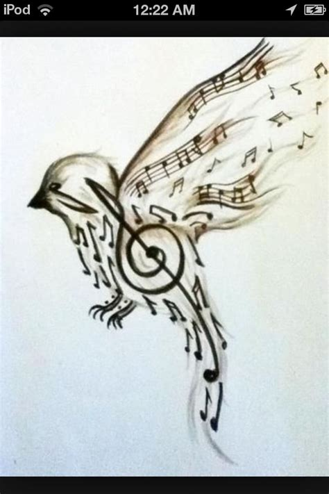 music bird tattoo bird tattoos awesome this is