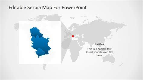 editable serbia map for powerpoint slidemodel