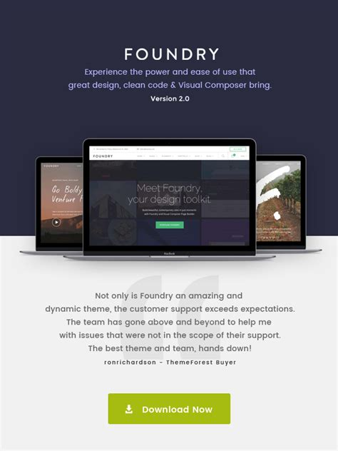 themeforest foundry foundry multipurpose multi concept wp theme by