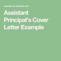 assistant principal cover letter assistant principal s cover letter exle assistant