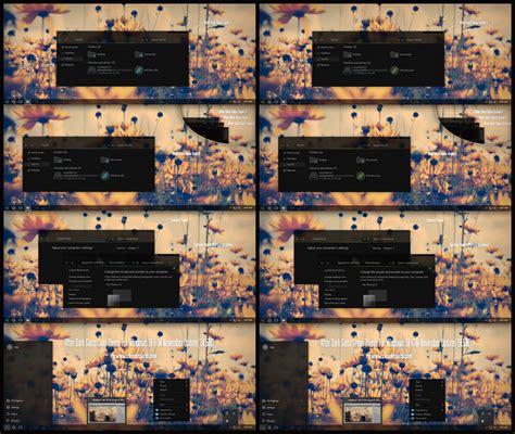windows 10 10586 36 full glass theme desktop by mykou after dark glass cyan and green theme windows 10 by