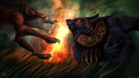 wallpaper dota 2 ursa lycan vs ursa dota 2 wallpapers