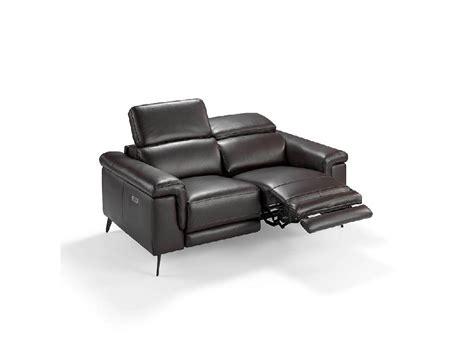 divani elettrici divano 2 posti rivestito in pelle con 2 x meccanismi relax