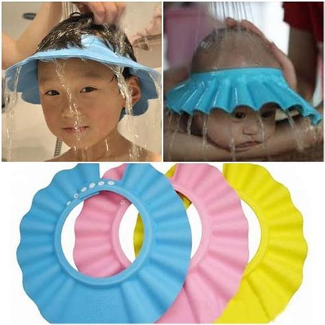 Topi Keramas Pelindung Mata Pedih Saat Keramas jual topi keramas anak murah di asibayi