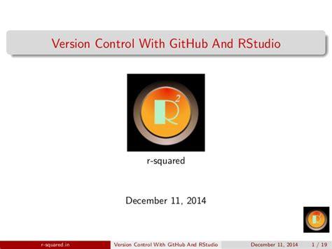 github tutorial slideshare version control with github rstudio