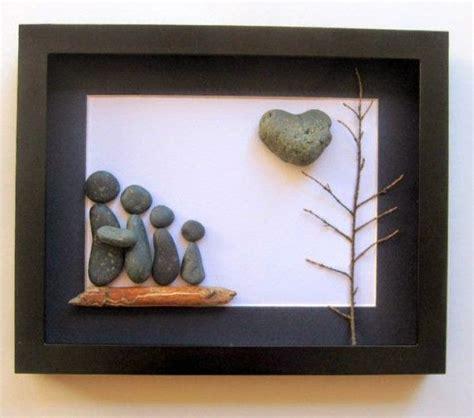 tolles bild mit steinen basteln steine pinterest