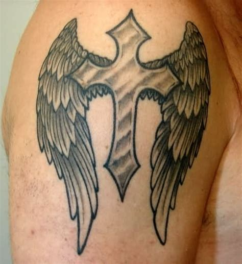 celtic cross with angel wings tattoo 105 beautiful 3d cross