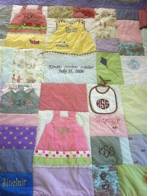 Baby Quilts Made From Baby Clothes by 25 Best Images About Quilts On Kid Quilts