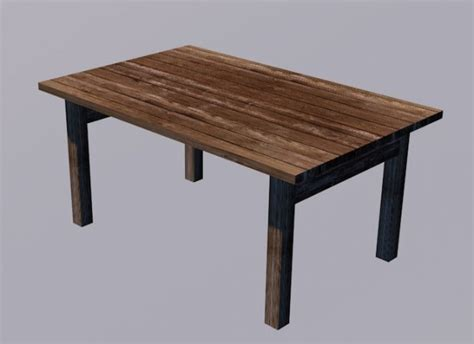 Table 3d Model Free table free 3d models free3d