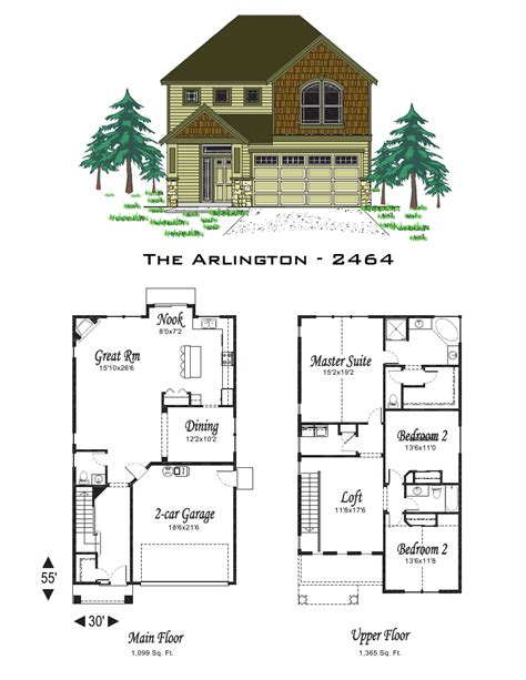 oregon home plans the arlington 2464 sq ft