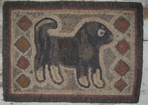 Primitive Kitchen Rugs Primitive Folk Hooked Rug Antique By Primitivejunky