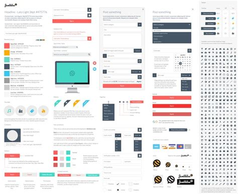 web layout styles 22 best images about ui style guides on pinterest a