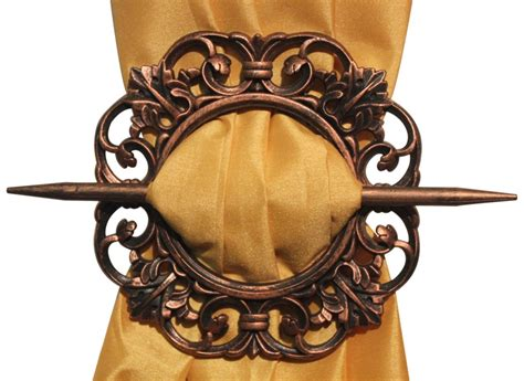 decorative curtain tie backs set of 2 decorative curtain holdbacks window curtain