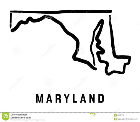 maryland map counties vector maryland map stock vector illustration of maryland