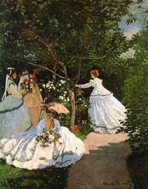 donne in giardino donne in giardino quadro di monet