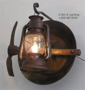 miners light rustic lantern miner s wall sconce light