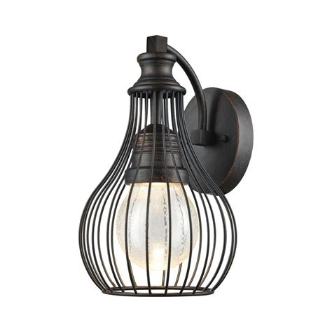 osage weathered charcoal outdoor led wall sconce tn 75823