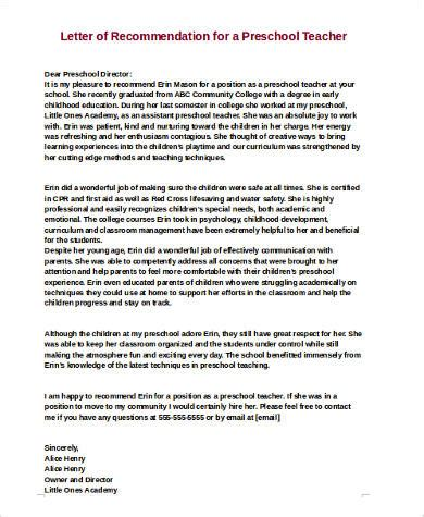sle letters of recommendation for a 9