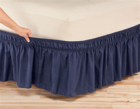 wrap around bed skirt solid wrap around elastic bed skirt by oakridge comfortstm
