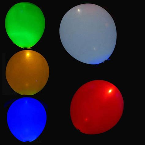 helium color 100pcs led helium air mixed colors balloon wedding light