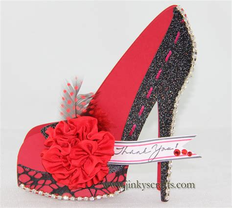 high heel shoe template craft jinky s crafts designs high heel shoe 3d cards