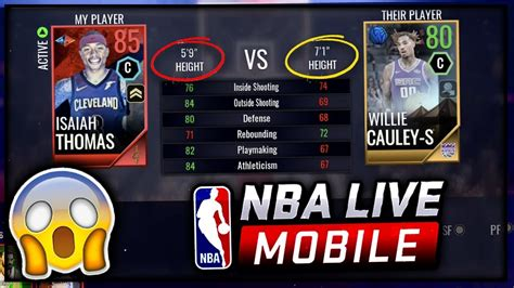 Wach Mba Live On Xfinity On Line by 5 9 Quot Center Vs 7 Foot 1 In Nba Live Mobile