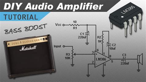 what do capacitors do in a guitar lifier make a great lm386 audio lifier with bass boost