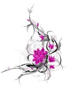 awesome tribal and pink flower tattoo design