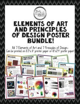 freebie elements and principles of art and design matrix tpt principles of design elements of art and design posters