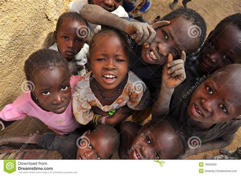 Wajah Afro of children smiling editorial photo image