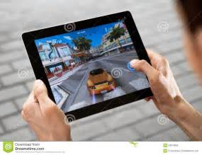 Play game on apple ipad2 editorial photography image 20674852