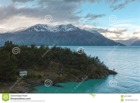 higgins lake boat dealers shore and dock in a mountain lake stock photo