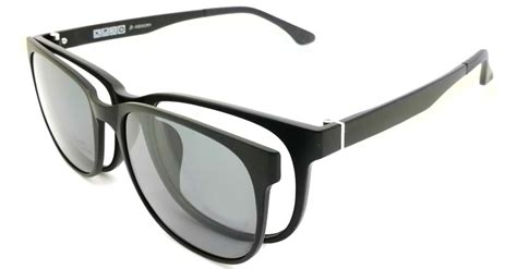 tr oval black polarized magnetic clip on sunglasses sm
