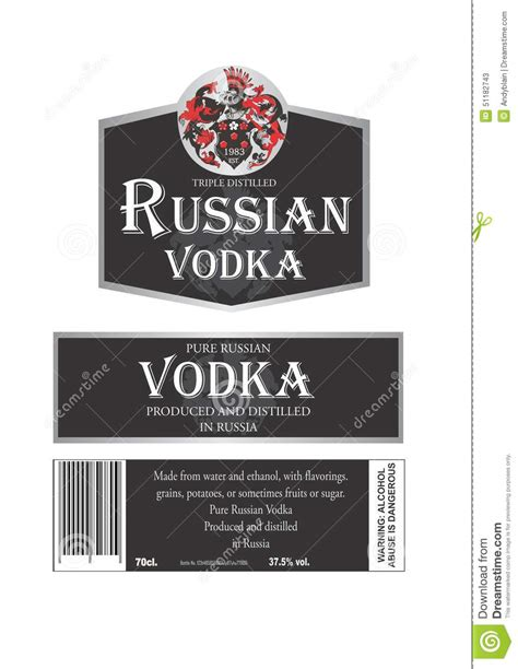design a label guidelines on labelling for museums russian vodka stock illustration image of russian vodka