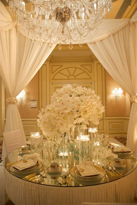 Wedding Utilities Best Wedding Reception Table White And Gold Luxurious Table Setting White Gold